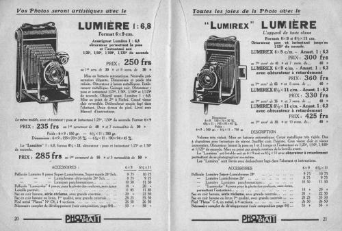 lumière,appareils 6x9 pliants,fidor